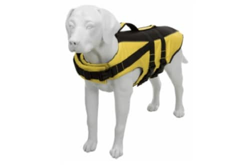 Gilet de sauvetage jaune pour chien