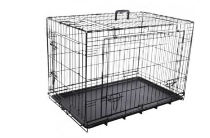 Cage noire métallique de chien 47x77x54 cm